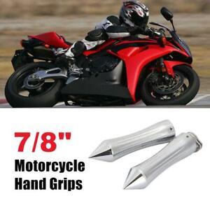 """Chrome Handle Bar Hand Grips 7//8/"""" For Honda CBR 600 F3 F4i 900 929 954 1000 RR"""