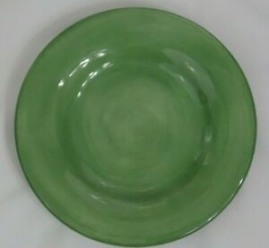 Tabletops-Unlimited-Espana-Green-11-034-Round-Dinner-Plate-Hand-Painted-Collection