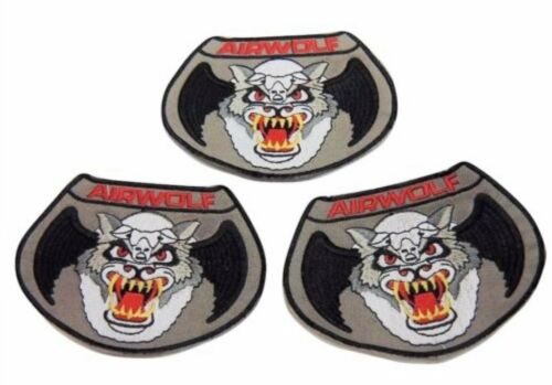 Airwolf TV Series Set of 3 Embroidered Patch Set of 3 Patches