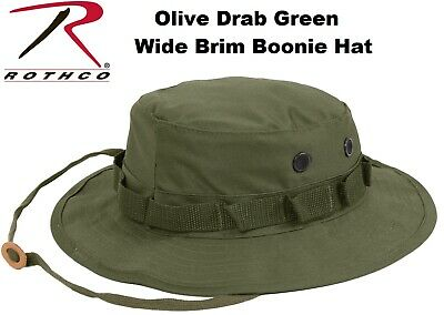 Khaki Military Police Tactical Wide Brim Bucket Camping Hunting Boonie Hat 5813