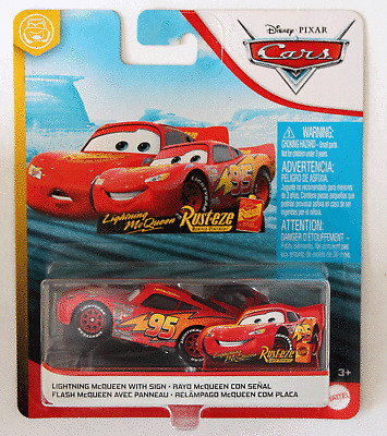 DISNEY PIXAR CARS LIGHTNING MCQUEEN WITH SIGN FUNNY FLASHBACKS 2020 CGC FREE SHI