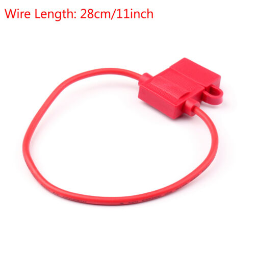 8Pcs Medium Blade Fuse Holder ATC ATO Waterproof 12AWG In-Line Wire Red UK