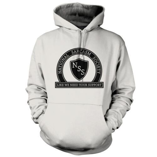 Unisex Hoodie // Hooded Top 9 Colours National Sarcasm Society Sarcastic