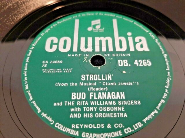 78rpm: Bud Flanagan - Strollin' / Home Is Where Your Heart Is - 1959 Ex