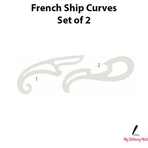 French Curve Ruler Set Of 2 Rulers Drawing Template Fashion Sewing ...