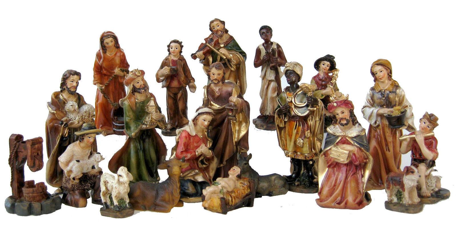 Weihnachtskrippe Krippenzubehör Krippenfiguren Krippenfiguren Krippenfiguren 20-teilig handbemalt 15 cm | Neuartiges Design  1cb970