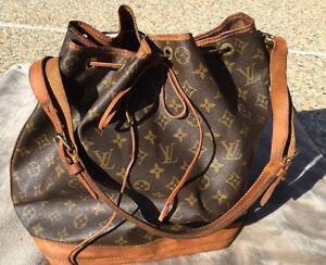 Vintage Louis Vuitton Monogram Noe Drawstring Bucket Bag