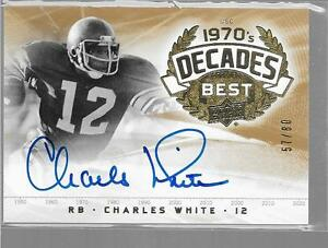 2011 UD College Legends - CHARLES WHITE Decade's Best Autograph USC HEISMAN /80