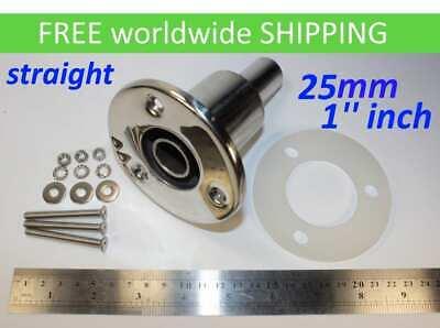 "exhaust skin fitting 1 /"" inch 25 mm generator heater Stainless steel thru hull"