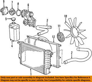 bmw oem 88 01 750il radiator cooling fan blade 11521712110. Black Bedroom Furniture Sets. Home Design Ideas