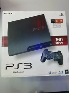 Sony PlayStation 3 160 GB Jet Black with Original Box and Accessories