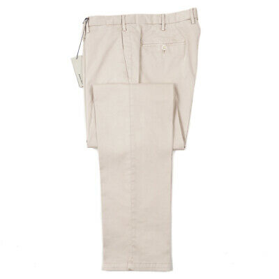 NWT $345 BOGLIOLI Navy Blue Stretch Twill Cotton Pants Slim 35 Chinos Eu 52