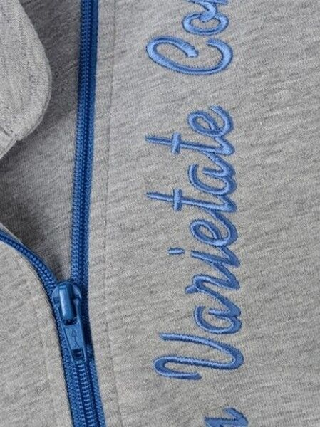 FREIZEIT-ANZUG ~  HAUSANZUG ~ grau-melange-blau SPORT 40 42 44 46 48 NEU