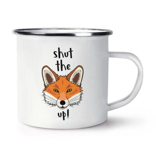 Fermez la fox up rétro émail Tasse-Drôle Animal Blague Rude