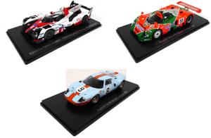 Set of 3 Model Cars 24h Le Mans Audi Mazda Toyota 1:43 Spark Diecast Car LM45