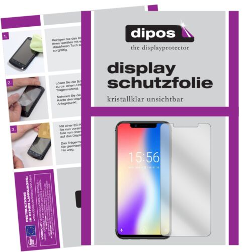 6x umidigi one protectoras TRANSPARENTES para protector de pantalla Lámina display protección dipos