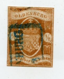 Germany-Old-Germany-Oldenburg-Mi-11-Postmarked