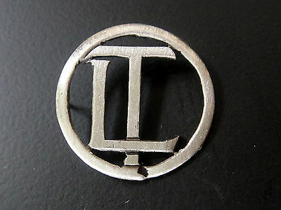 Monogrammes Argent Massif Lt Tl Initiale Chiffre Solid Silver Monograms Art Deco