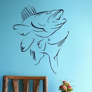 SALMON FISH JUMPING RIVER SEA FISHING ANGLING Vinyl wall art sticker decal
