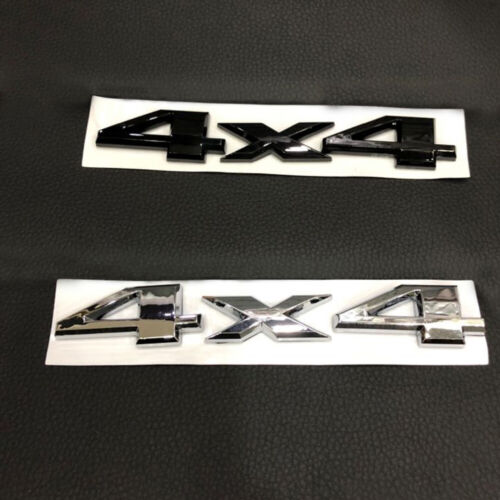 New Style Silver 3D Car Auto Metal 4x4 Logo Rear Emblem Badge Sticker Decal