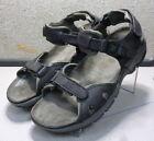 ALLIGATOR BLACK MMPFSA50 Men's Shoes Size 12.5 Eur 47 Leather Sandals Mephisto