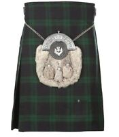 New Scottish Tartan Wedding Black Watch 5 Yard Acrylic Kilt Size 30-54 Inch