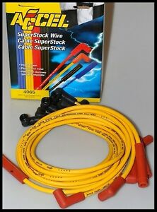 Yellow spark plug wires for chevy 350 motor wire center accel spark plug wires chevy 305 350 caprice 60 off 4065 ebay rh ebay com hei asfbconference2016 Choice Image