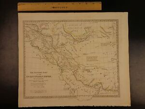 Details about 1844 BEAUTIFUL Huge Color MAP of Eastern Ancient Persia  Arabia Assyria ATLAS