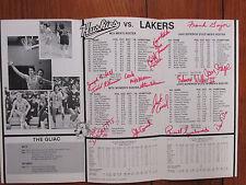 1983 Michigan Tech Men's Basketball Program(14 Signed/w/MIKE MORAN/TODD KLEINOW)