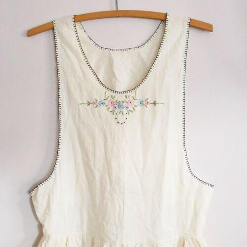 Antique Vintage Edwardian Pinafore Apron Embroider