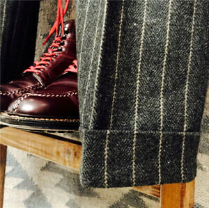 Men-039-s-British-Woolen-Striped-Straight-Pants-Mix-Warm-Retro-Herringbone-Trousers