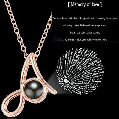 Love U  Clavicle Pendant Chain Necklace Graduation Jewelry Gift