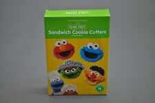Williams Sonoma Sesame Street Elmo Cookie Monster Sandwich Cookie Cutters GUC