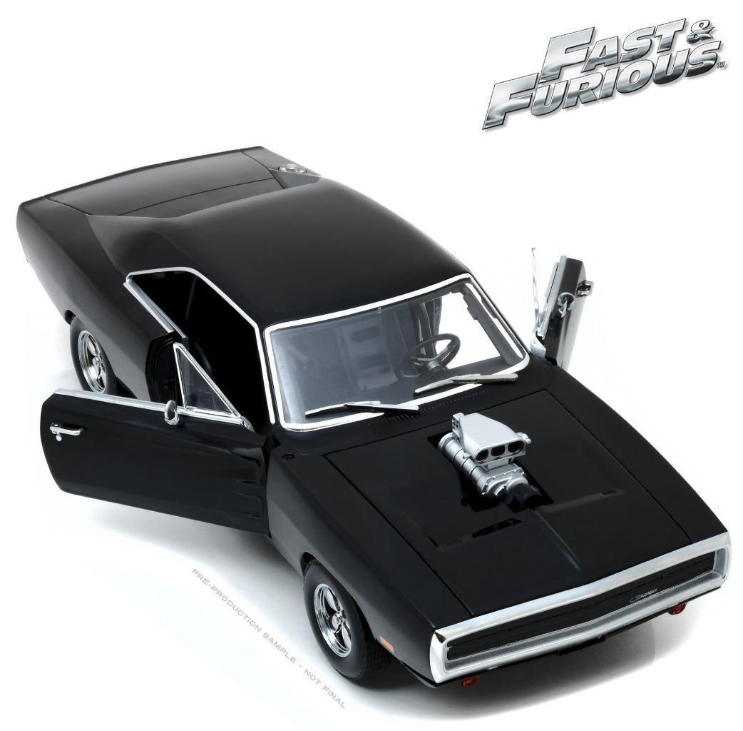 vertlight Dom's 1970 Dodge Chargeur  Fast & Furious  Noir 1 18New