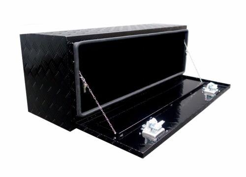 48in BLACK Aluminum Underbody Tool Box RV -Trailer Pickup ATV Truck