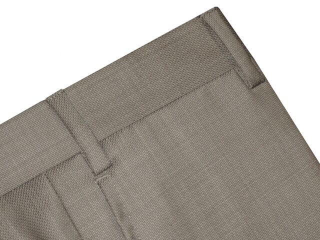 $325 NEW ZANELLA DEVON KHAKI TAUPE WEAVE SUPER 120'S WOOL DRESS PANTS 34