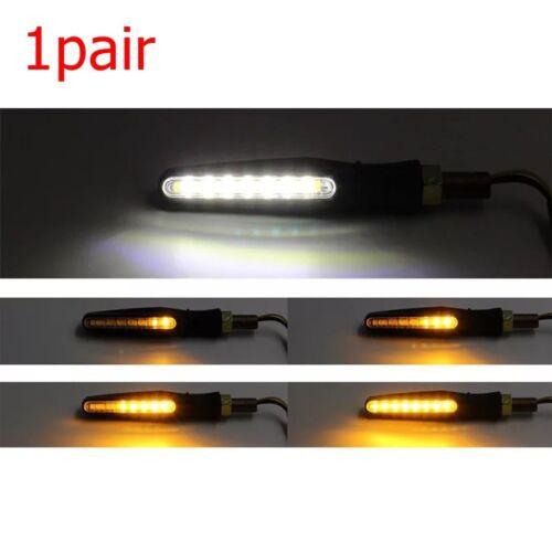 1pair Motorcycle Moto Bike 15LED Turn Signal Flow Light Lamp Indicator Blink 12V