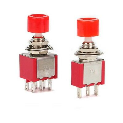 2PCS 3pin Momentary Push Button Toggle Switch PS-102 DS612 1NO 1NC S!