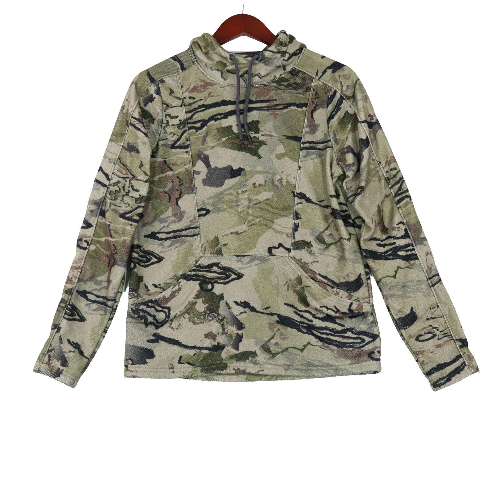 Under Armour Women's Green Women's Camo Fleece Hoodie Sweatshirt - Size Small
