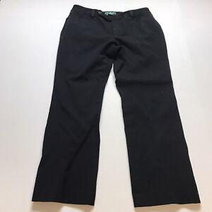 Lauren Ralph Lauren Adelle Cropped Pants In Black Size 12P Slimming A854