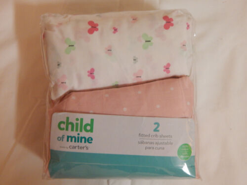 Carter/'s Child of Mine Crib Sheet Pink Butterfly