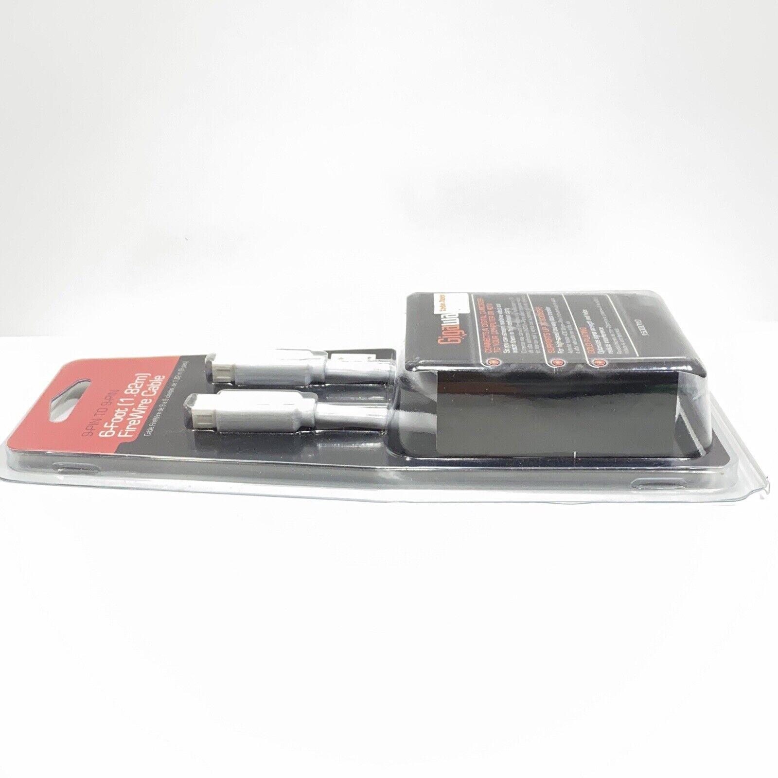 RadioShack GIGAWARE 6 FOOT FIREWIRE CABLE 9-PIN TO 9-PIN 1500010