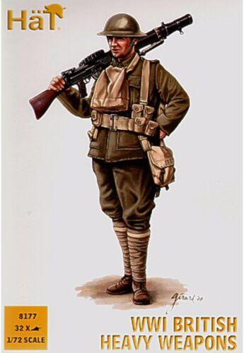 1:72 Hat WWI British heavy weapons