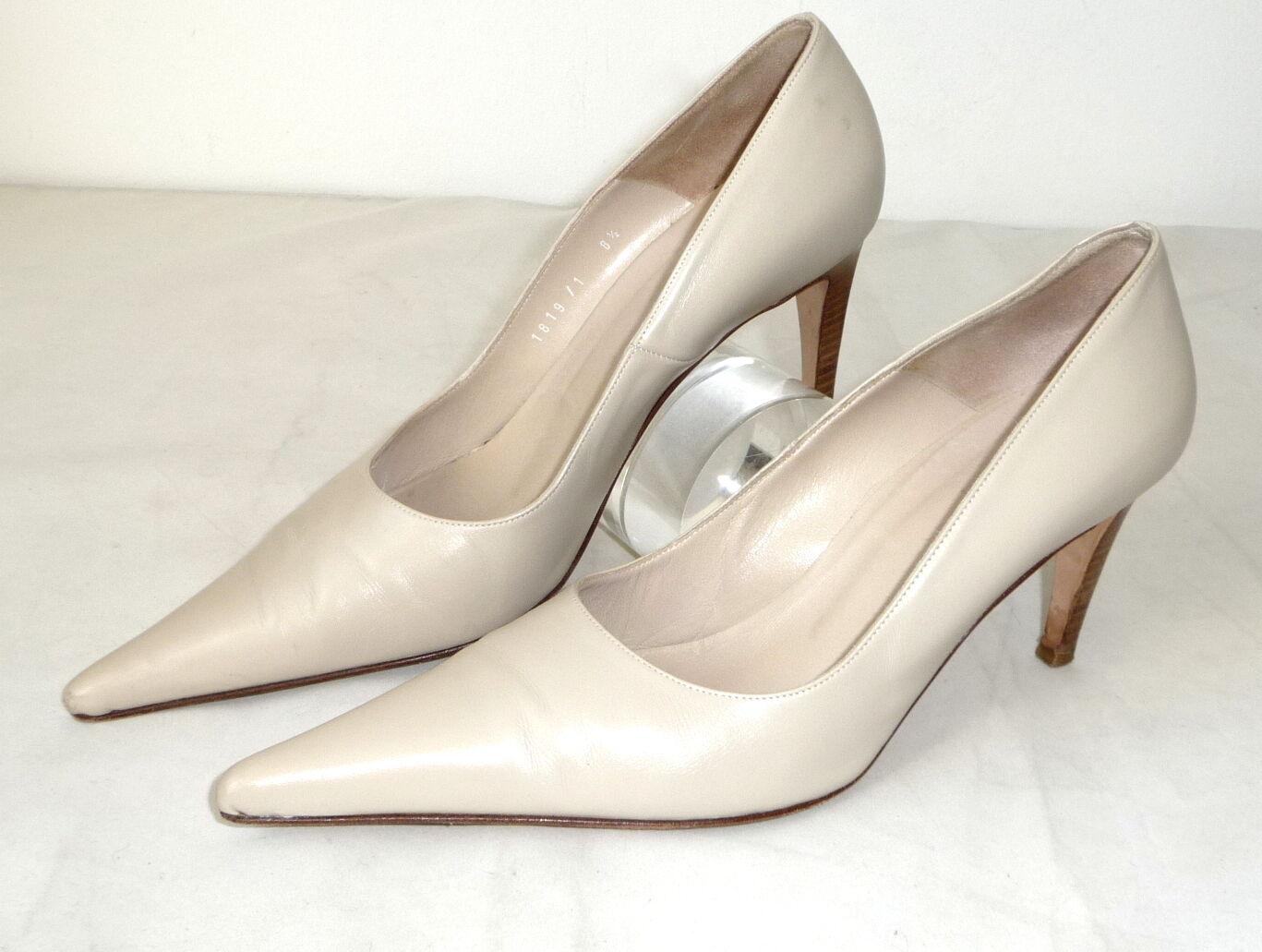 Gianni Versace 38,5 Leder Pumps Schuhe Schuhe Schuhe High heels nude schuhe Hautfarben Pump 9a60be