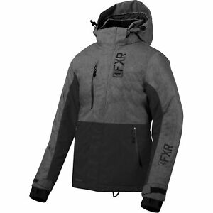 FXR Svalbard Parka Womens Snow Jacket Mid Gray Heather//Plum