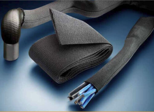 TE Connectivity Raychem HFT-5000 Black Heatshrink Woven Fabric Various Sizes
