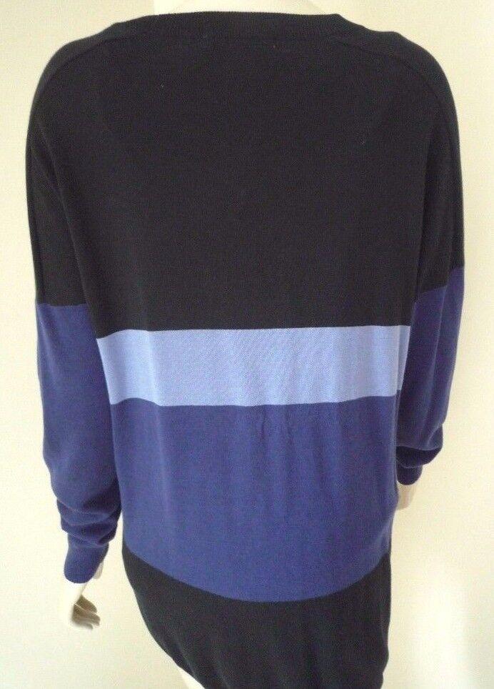 Kenneth Cole Cole Cole blu & nero Block Stripe Cardigan Taglia XS d15997