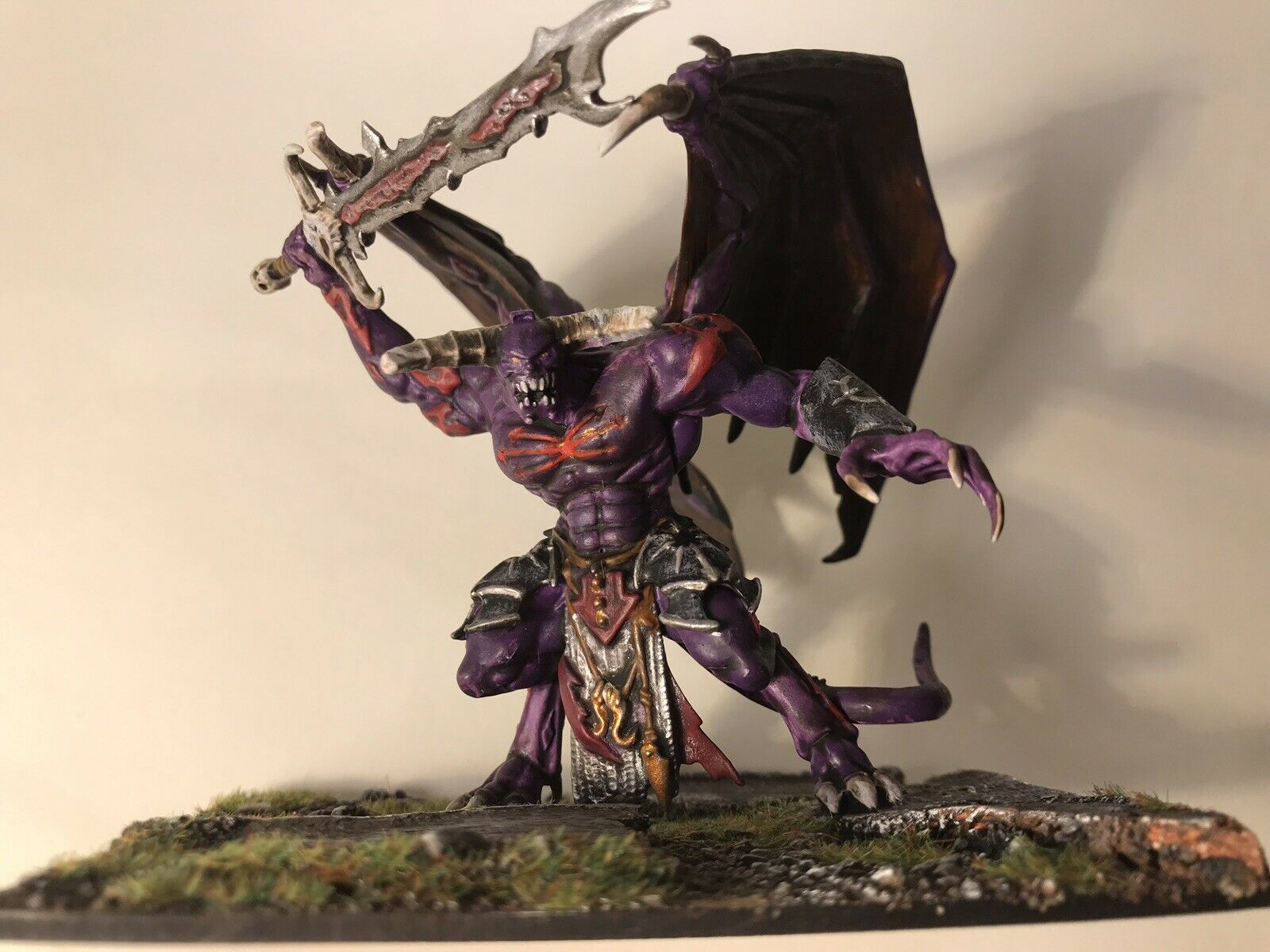 Warhammer Chaos Daemon Prince - well painted and Based