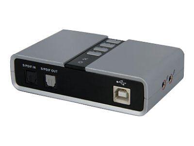 StarTech 7.1 USB Audio Adapter External Sound Card with SPDI