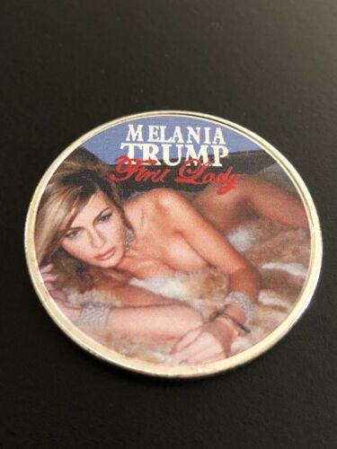 Hot American First Lady Melania Trump Silver Plated Coin Novelty,USA SELLER